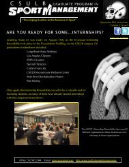 are you ready for some…internships? - California State University ...