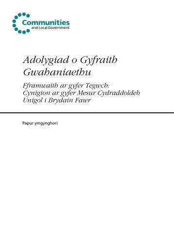 Adolygiad o Gyfraith Gwahaniaethu - Putting equality at the heart of ...