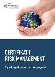 et grundlæggende onlinekursus i risk management - primo