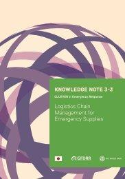 Logistics Chain Management for Emergency Supplies