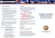 Studije na engleskom - Medicinski fakultet - Univerzitet u Beogradu