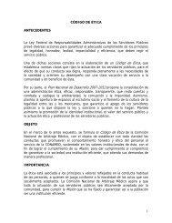 Código de Ética - Comisión Nacional de Arbitraje Médico
