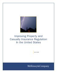 Improving Property and Casualty Insurance Regulation In the United ...