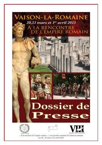 « À la rencontre de l'empire romain » Les journées romaines de ...