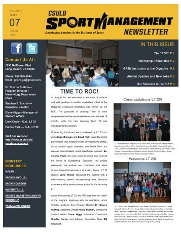 TIME TO ROC! - California State University, Long Beach