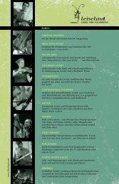 BANDS FOREIGN FEATHERS irische Musik mit ... - Leiselaut