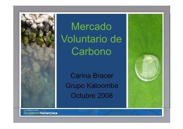 Mercado V l t i d oluntario de Carbono - the Katoomba Group