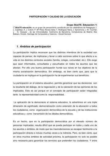 1. Ámbitos de participación - Páxinas persoais - USC