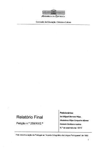 Relatório final na íntegra (PDF)
