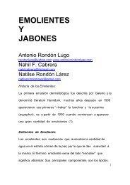 149 EMOLIENTES y JABONES - Antonio Rondón Lugo