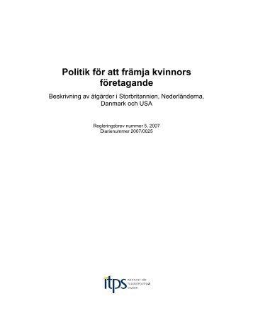 Politik för att främja kvinnors företagande