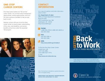 TAA Brochure - RI Department of Labor and Training