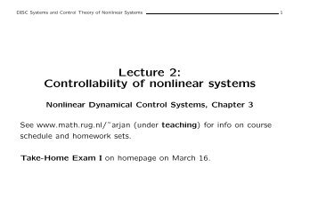 Lecture 2: Controllability of nonlinear systems