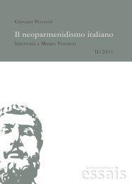Il neoparmenidismo italiano. Intervista a Mauro Visentin - Filosofia.it