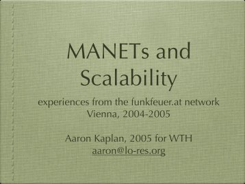 experiences from the funkfeuer.at network Vienna, 2004 ... - Lo-res.org