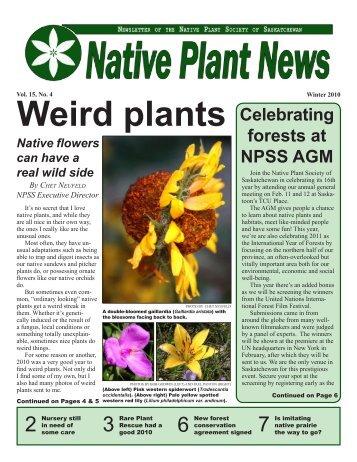 Winter 2010 - Native Plant Society of Saskatchewan