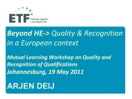 Quality & Recognition in a European context, Arjen Deij - Africa-EU ...