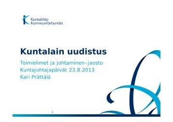 Kuntalain uudistaminen - Kunnat.net