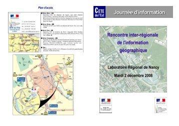 Programme SIG - Le CETE de l'Est