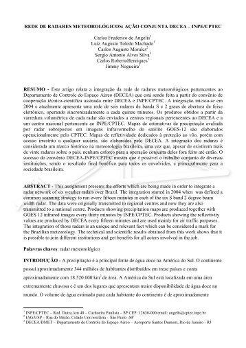 REDE DE RADARES METEOROLÓGICOS: AÇÃO ... - Redemet