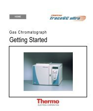 TRACE GC Getting Started Manual - Thermo Scientific