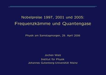 Frequenzkämme und Quantengase