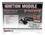 please read all directions before starting installation - MotoSport