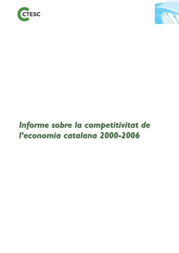 Informe sobre la competitivitat de l'economia catalana 2000 ... - ctesc