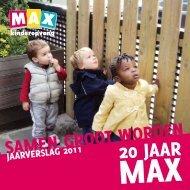 20 jaar - Max Kinderopvang