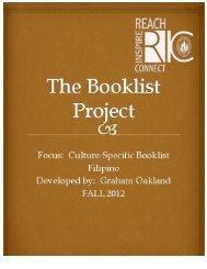 Filipino Booklist by Graham Oakland for Grades 2-7.pdf - RITELL