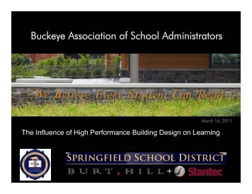 Burt Hill Presentation - Oberlin City Schools