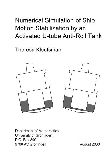 Numerical Simulation of Ship Motion Stabilization by an Activated U ...