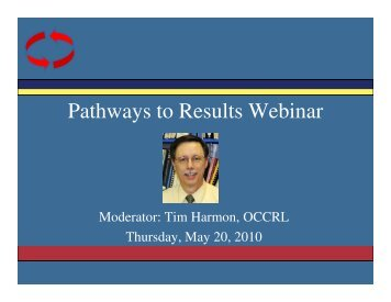 Pathways to Results Webinar - Office of Community College ...