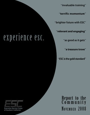 Annual Report 2008 - Executive Service Corps of Southern California
