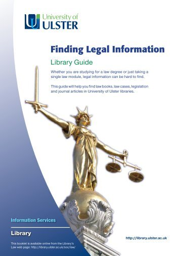 Finding Legal Information - University of Ulster Library