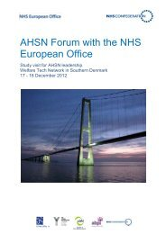 Programme for Denmark study visit - NHS Confederation