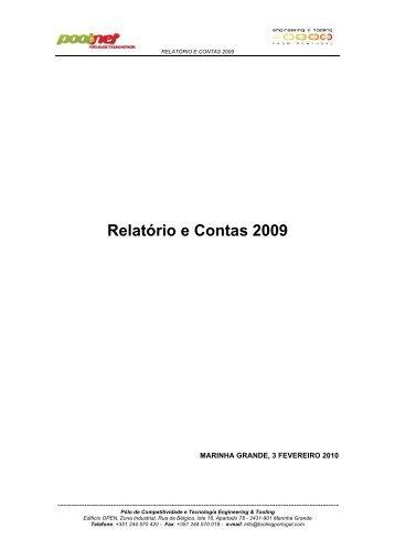 Relatório de Contas 2009 - Compete - Qren