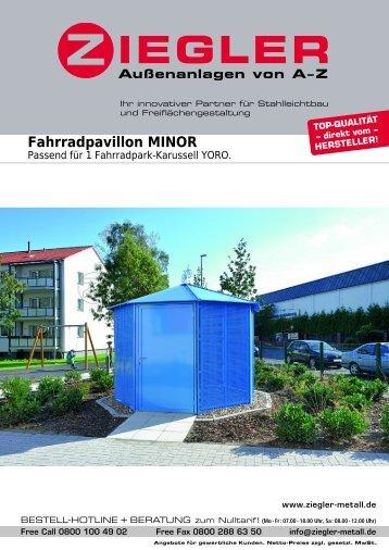 Fahrradpavillon MINOR - Ziegler
