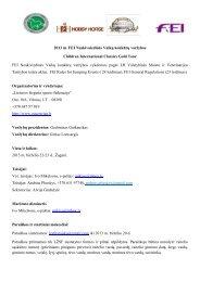 programa ir nuostatai - Lietuvos žirginio sporto federacija