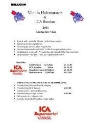 Inbjudan till Vännäs halvmarathon och ICA Rundan den 7 maj