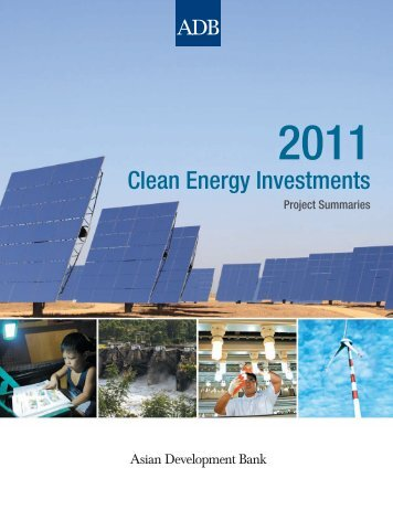 2011 Clean Energy Investments: Project Summaries