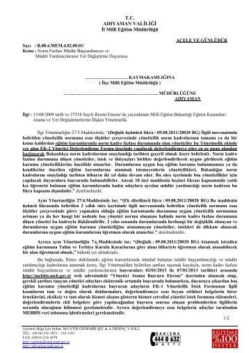 kkkk - Adıyaman İl Milli Eğitim Müdürlüğü - Milli Eğitim Bakanlığı