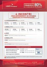 4 INCONTRI - Centro Studi Lavoro e Previdenza