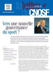 Conférence Nationale du Sport - Comité National Olympique et ...