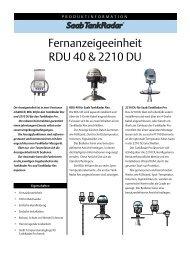 Fernanzeigeeinheit RDU 40 & 2210 DU - Rosemount TankRadar