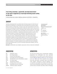 Free-living amoebae, Legionella and Mycobacterium in tap water ...