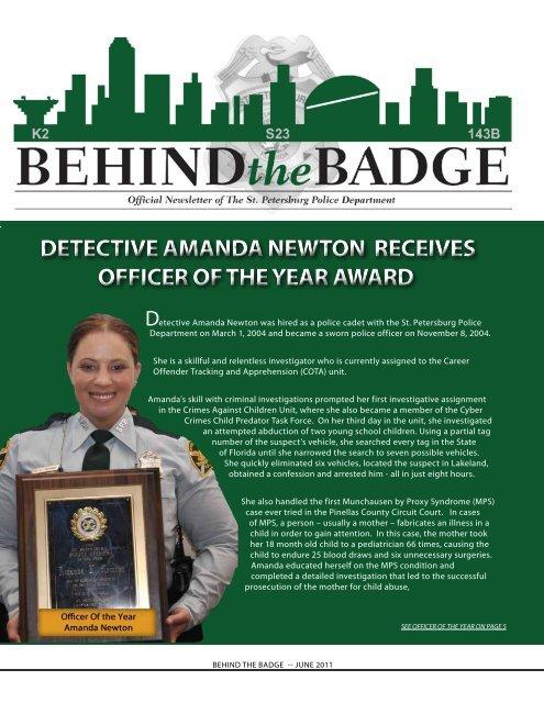 detective amanda newton receives officer of the year award