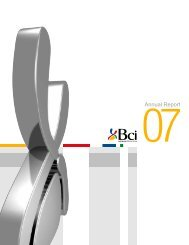 Annual Report - Bci
