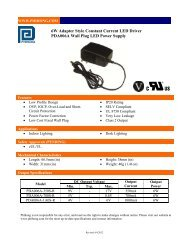 6W Adapter Style Constant Current LED Driver PDA006A ... - Phihong