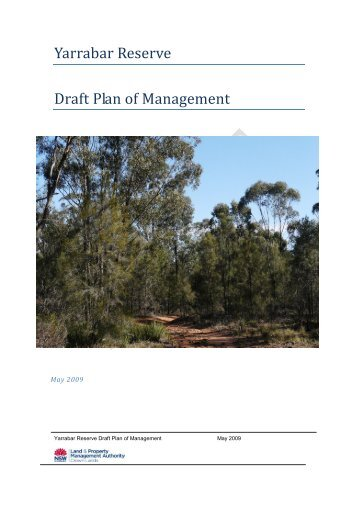 Yarrabar Reserve Draft Plan of Management - Land